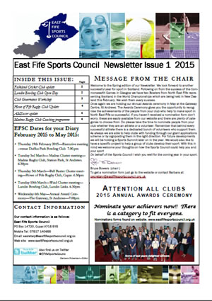 Newsletter Issue 1 2015