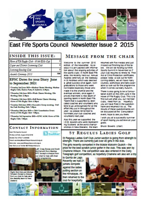 Newsletter Issue 2 2015